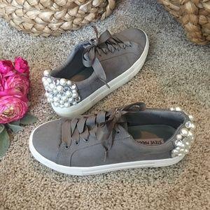 Steve Madden Grit Platform Sneaker Grey Pearl